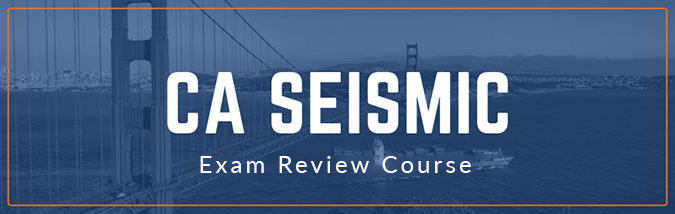 School of PE offers CA Seismic exam prep courses to prepare applicants for the NCEES California Seismic exam. Course includes lectures, California seismic exam sample questions, and more.