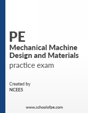 NCEES PE Mechanical Machine Design and Materials Books